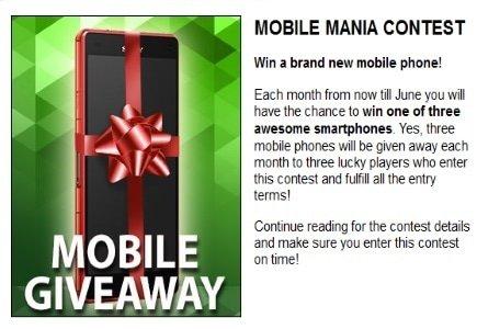Smartphone Giveaway at Slotland