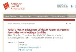 "AGA Introduces ""Stop Illegal Gambling - Play it Safe"""