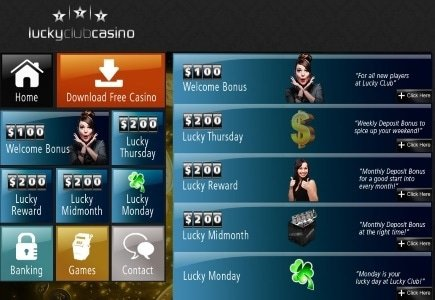 25% Cash-Back Available at Lucky Club Casino