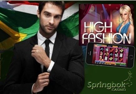 High Fashion is the Game of the Month at Springbok Casino offering an R3000 Bonus and Free Spins