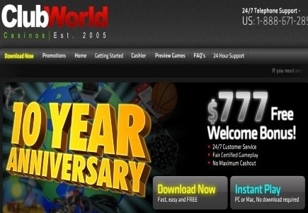 Club World Celebrates 10 Years and $10K is the Magic Number