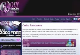 Win a Piece of the T-100 000 Tournament Prize Pool at Crazy Vegas Casino