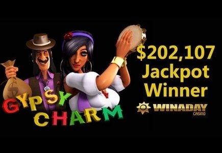 Gypsy Charm Awards $202,107 Progressive Jackpot at WinADay