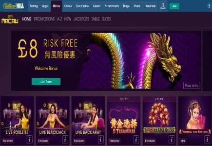 William Hill Appeals to Asian Online Punters with New Macau Casino