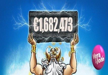 Hall of Gods Pay €1,682,473 Jackpot at Vera&John