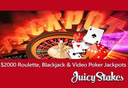 Special Blackjack, Video Poker and Roulette Jackpots at Juicy Stakes Casino