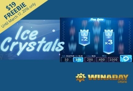 Spin for Cold Hard Cash on WinADay's Ice Crystals Video Slot