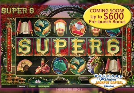 RTG's Super 6 Slot Launches at Jackpot Capital