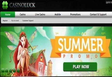 Sunny Summer Bonuses from CasinoLuck
