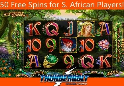 Thunderbolt Casino Brings RTG's Enchanted Garden II to South African Players