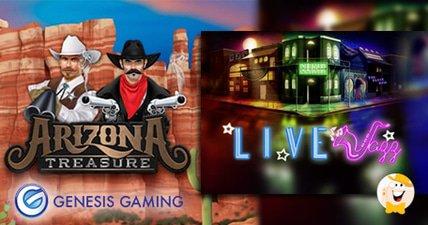 Genesis gaming launches land based inspired games arizona treasures and live jazz