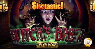 October $313 Bonus + 31 Free Spins on Witch's Brew Only from Slotastic