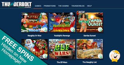 Thunderbolt casino unveils new homepage