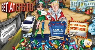 Santa making xmas great again at betat
