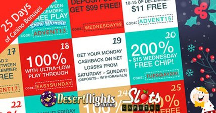 25 days of gifts at slots capital and desert night
