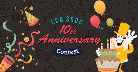LCB 10th Anniversary $500 Trivia Contest