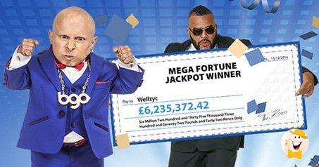 £6.3M Mega Fortune Jackpot Win Sets BGO Record