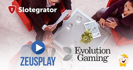Slotegrator Partners with Evolution Gaming and ZuesPlay
