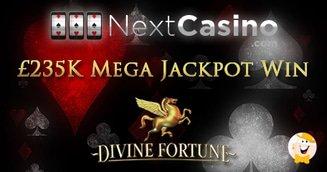 Nextcasino %c2%a3235k divine fortune win