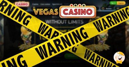 Vegascasinoio receives a warning sign