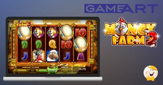 Collect Golden Eggs in GameArt's Money Farm 2