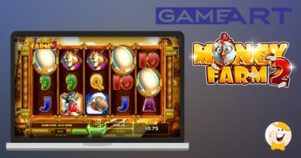 Collect golden eggs in gamearts money farm 2