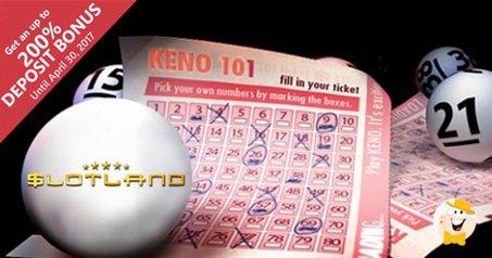 Slotland launches 1st keno game keno 101